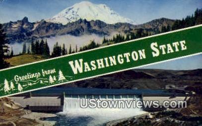 Greetings from, Washington,     ;     Greetings from, Wash Postcard