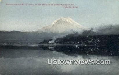 Commencement Bay - Mt Tacoma, Washington WA Postcard