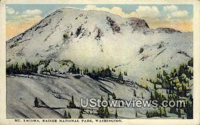 Mt Tacoma - Rainier National Park, Washington WA Postcard