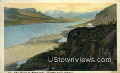 Vista House, Crown Point - Columbia River Highway, Washington WA Postcard