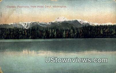 Hood Canal - Olympic Mountains, Washington WA Postcard