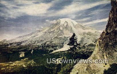 Mt Rainier, Washington,     ;     Mt Rainier, WA Postcard