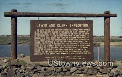 Lewis & Clark Expedition - Pasco, Washington WA Postcard