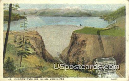 Cushman Power Dam - Tacoma, Washington WA Postcard