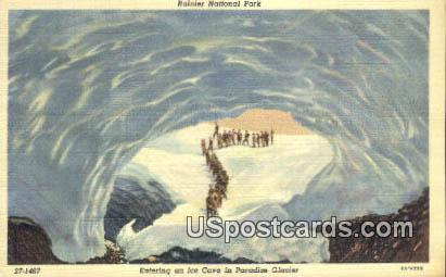 Ice Cave, Paradise Glacier - Rainier National Park, Washington WA Postcard