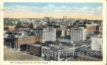 1st Hill - Seattle, Washington WA Postcard