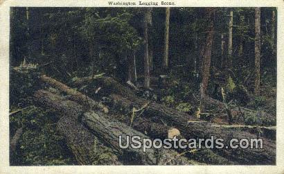 Washington Logging - Misc Postcard