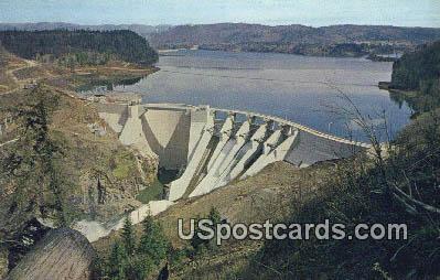 Mayfield Dam, WA Postcard      ;      Mayfield Dam, Washington