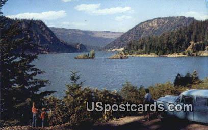 Tieton Reservoir - White Pass Highway, Washington WA Postcard