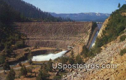 Tieton Dam - Tieton River, Washington WA Postcard
