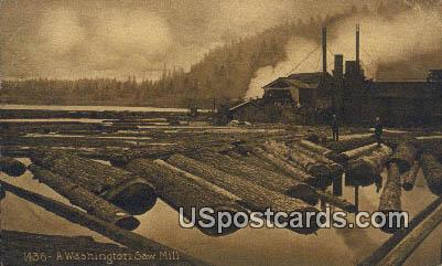 Washington Saw Mill - Misc Postcard