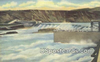 Rock Island Dam - Columbia River, Washington WA Postcard