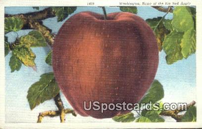 Big Red Apple - Misc, Washington WA Postcard