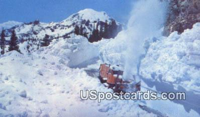Snow Plow - Chinook Pass, Washington WA Postcard