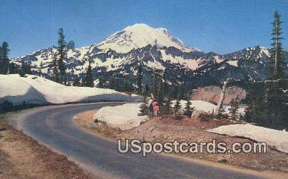 Mt Rainier - Chinook Pass, Washington WA Postcard