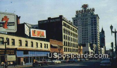 Pacific Ave - Tacoma, Washington WA Postcard
