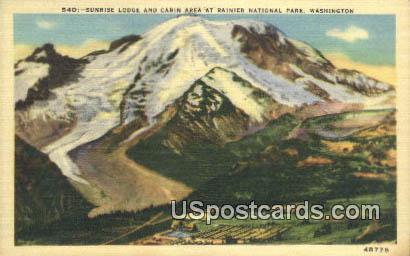 Sunrise Lodge - Rainier National Park, Washington WA Postcard