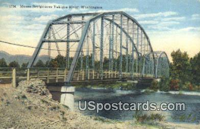 Moxee Bridge - Yakima River, Washington WA Postcard