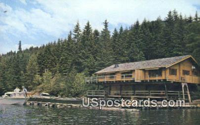 Lake Chushman Resort - Olympic Mountains, Washington WA Postcard