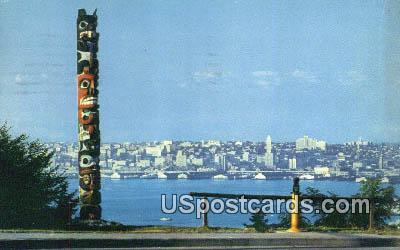 Indian Totem Pole - West Seattle, Washington WA Postcard