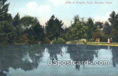 Lake, Wrights Park - Tacoma, Washington WA Postcard