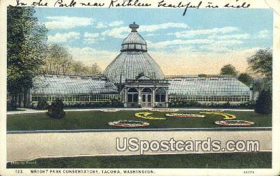Wright Park Conservatory - Tacoma, Washington WA Postcard