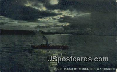 Puget Sound, Washington Postcard     ;      Puget Sound, WA