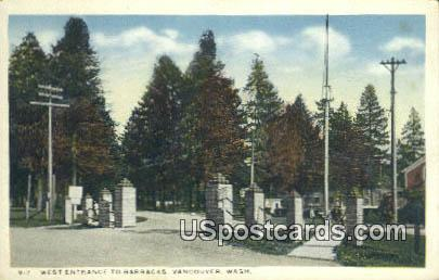 West Entrance, Barracks - Vancouver, Washington WA Postcard