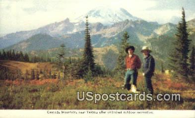 Cascade Mountains - Yakima, Washington WA Postcard