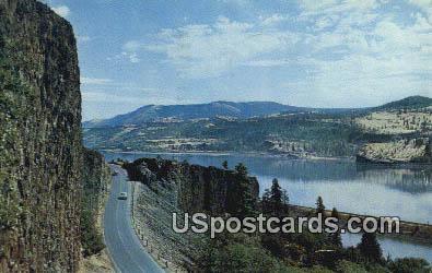 Evergreen Highway - Columbia River, Washington WA Postcard