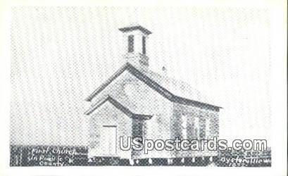 First Church - Oysterville, Washington WA Postcard
