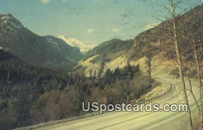 US Highway 10 - Snoqualmie Pass, Washington WA Postcard