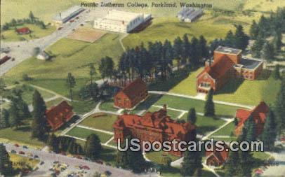 Pacific Lutheran College - Parkland, Washington WA Postcard