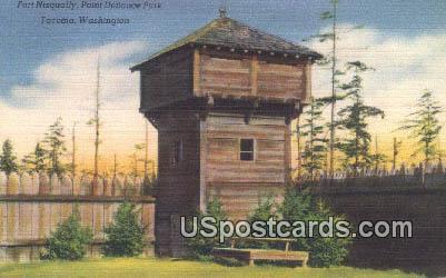 Fort Nisqually - Tacoma, Washington WA Postcard