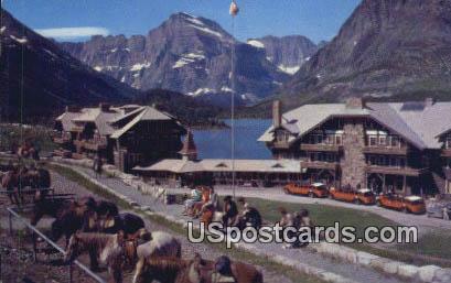 Many Glacier Hotel - Swiftcurrent Lake, Washington WA Postcard