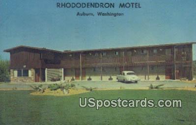 Rhododendron Motel - Auburn, Washington WA Postcard