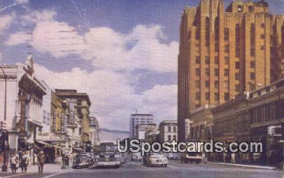 First St, Yakima Avenue - Washington WA Postcard