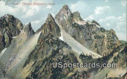 The Pass - Cascade Mountains, Washington WA Postcard