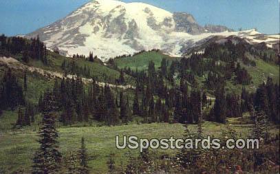 Mt Rainier, Washington Postcard     ;      Mt Rainier, WA