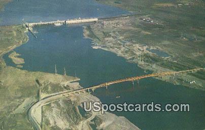 Umatilla Bridge, McNary Dam - Columbia River, Washington WA Postcard