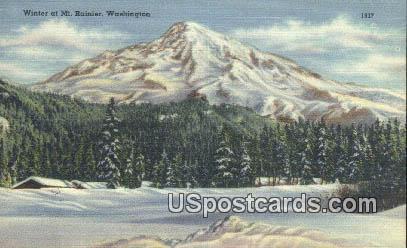 Mt Rainier, WA Postcard      ;      Mt Rainier, Washington