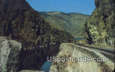 Box Canyon - Salmon River, Washington WA Postcard