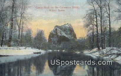 Castle Rock - Columbia River, Washington WA Postcard