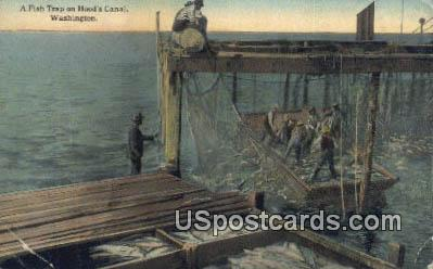 Fish Trap - Hoods Canal, Washington WA Postcard