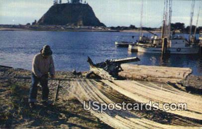 Indian Fisherman - La Push, Washington WA Postcard