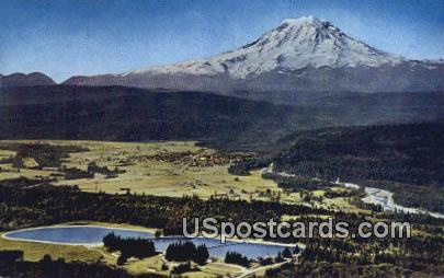 Beauty & Water - Mt Rainier, Washington WA Postcard