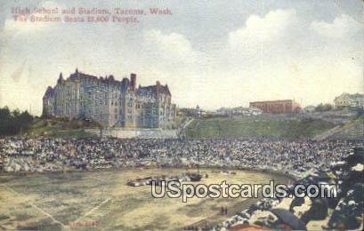 High School & Stadium - Tacoma, Washington WA Postcard