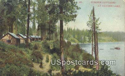 Summer Cottages - Hayden Lake, Washington WA Postcard