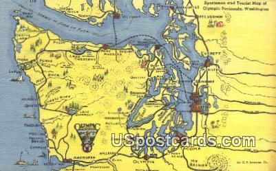 Olympic Peninsula, WA Postcard      ;      Olympic Peninsula, Washington