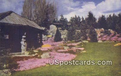 Ohme Garden in the Sky - Wenatchee, Washington WA Postcard